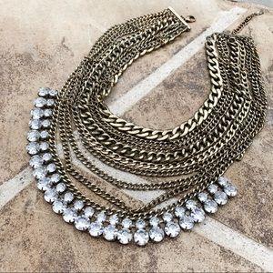 Bauble Bar | gold chain bib statement necklace